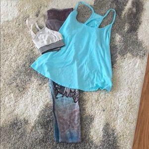 EUC athleisure bundle! Leggings, bra and top